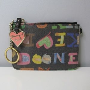Dooney Bourke Wallet Clutch Colorful Print Coated